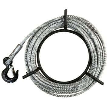 20 metre ROPE to suit 3200kgs ROPE HOIST with HOOK pulling lifting tree off road